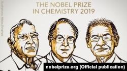 Лауреатами Нобелівської премії з хімії 2019 року стали Джон Ґудінаф, М. Стенлі Віттінґем і Акіра Йосіно