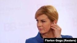 Хрватската претседателка Колинда Грабар - Китаровиќ