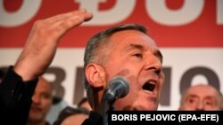 Монтенегродо алты жолу премьер-министри, бир жолу президент болгон Мило Жуканович. Монтенегро, 15-апрель, 2018-жыл.