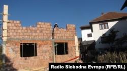 Radovi na obnovi kuće zločina u Višegradu, oktobar 2013.