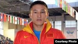 Қытайдағы қазақ спортшысы Ерланбек Кәтейұлы. Астана, 2012 жылдың сәуірі.