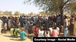 Predstavnici UN-a sa lokalnim stanovništvom, Južni Sudan