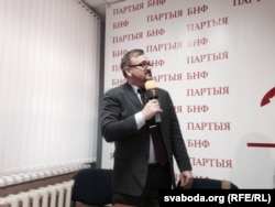 Вядоўца прэзентацыі Валер Каліноўскі
