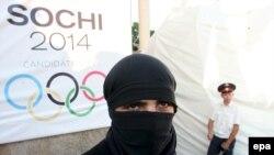 Оьрсийчоь -- Къилбаседа Кавказехь Олимпиада дIаяхьа кхераме хилар гойтуш кечйина коллаж