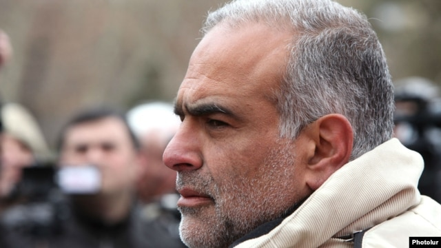 Armenia - Raffi Hovannisian, an opposition leader and former presidential candidate, at an open-air press-conference in Liberty Square in Yerevan,18Mar2013.