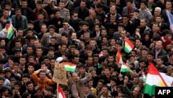 Thousands of Kurdish antigovernment protesters in the town of Sulaimaniyah earlier this month
