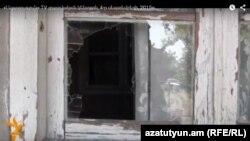 Ադրբեջանական կրակոցներից վնասված տուն սահմանամերձ Կոթի գյուղում, 4-ը սեպտեմբերի, 2015թ.