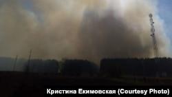 Пожар в селе Краснинское Промышленновского района Кемеровской области