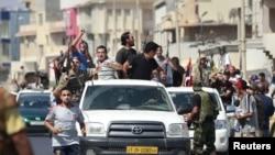 Повстанцы на улицах Триполи