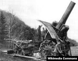 """""""Большая Берта"""" – немецкая крупнокалиберная мортира (калибр 420 мм) времен Первой мировой войны"""