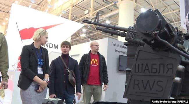 Автоматична турель «Шабля». Міжнародна спеціалізована виставка «Зброя та безпека-2018». Київ, 10 жовтня 2018 року