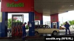 Автозаправочная станция UzGazOil в Ташкенте.