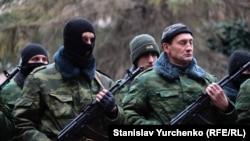 «Самооборона Крыма» в Симферополе, 10 марта 2014 года