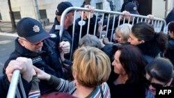 Protest majki ispred Vlade Crne Gore