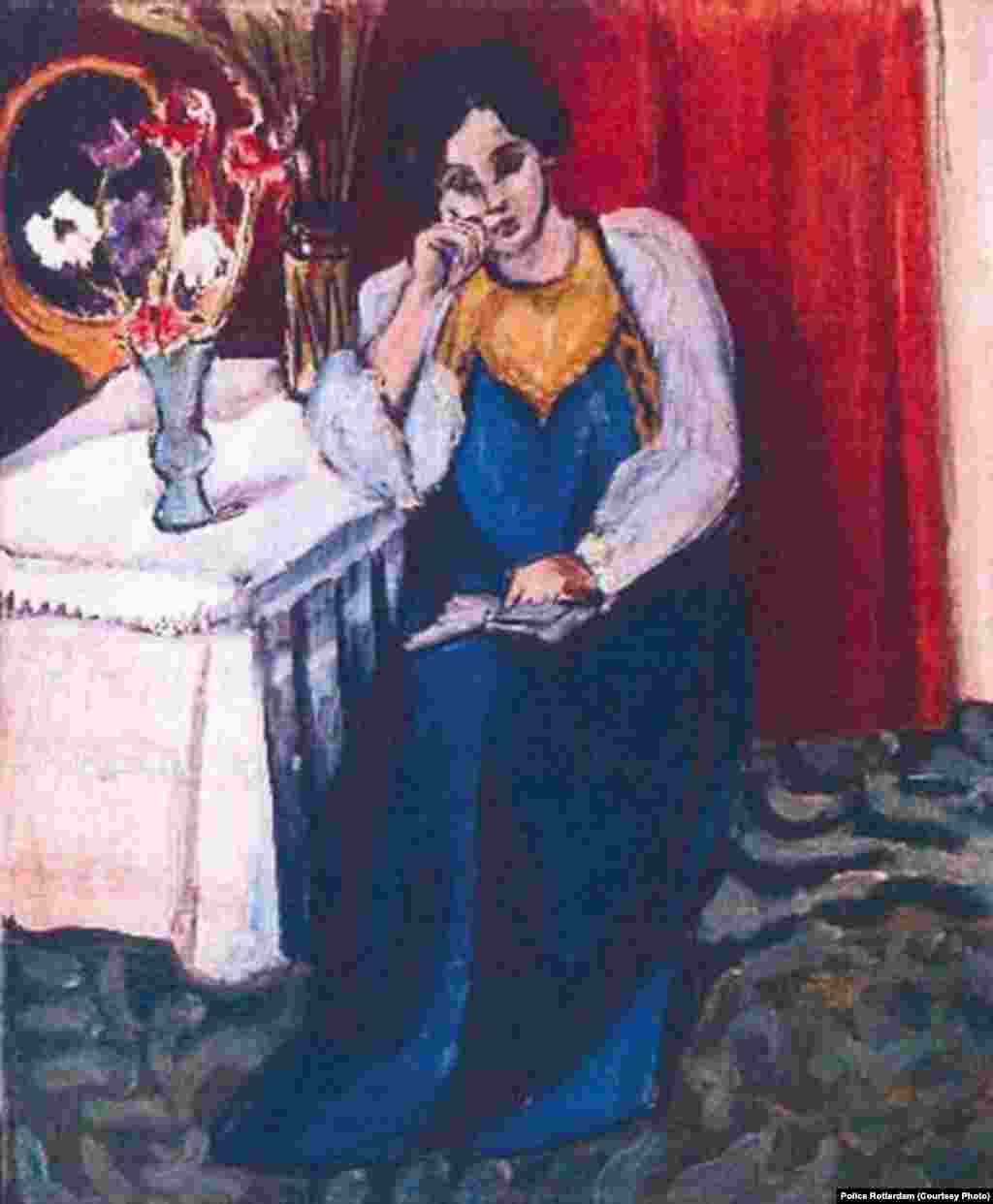 """Reading Girl in White and Yellow"" by Henri Matisse, 1919, is one of the paintings stolen from Kunsthal museum in Rotterdam."