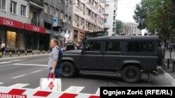 Specijalne jedinice na ulicama Beograda, ilustrativna fotografija, avgust 2015.
