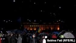 Seara a 20-a a protestelor din România