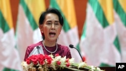آنگ سان سو چی رهبر میانمار