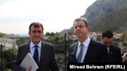 Serge Brammertz na Starom mostu u Mostaru