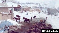 Кара-Кульжинский район Ошской области. Фото предоставлено пресс-службой МЧС КР.