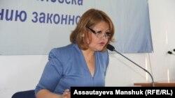 Айман Умарова, адвокат заключенного лидера оппозиции Владимира Козлова.