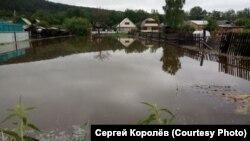 Наводнение в посёлке Нумский в Иркутской области