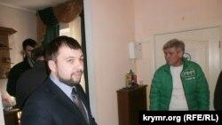 Денис Пушілін і Андрій Коробка на урочистому відкритті кримського офісу МММ у Сімферополі