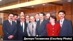 Миркасыйм Госманов шәкертләре белән, 60 яшьлек юбилее. КДУ, 31 май 1994