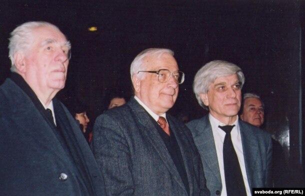 Ніл Гілевіч, Анатоль Грыцкевіч, Сяргей Законьнікаў. Менск, 25 сакавіка 2003 г.