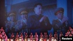 Прославата на роденденот на лидерот на Северна Кореја Ким Јонг Ил