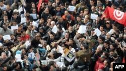 Акция протеста в Тунисе, 19 января 2011