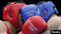 Лондон Олимпиадасындағы боксшылар жекпе-жегі. Көрнекі сурет.