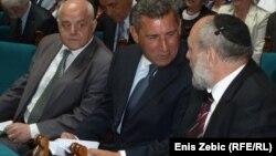 Umirovljeni general Ante Gotovina u razgovoru s rabinom Lucijanom Mošom Prelevićem. Foto: Enis Zebić