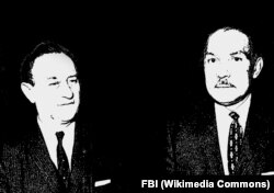 Моррис Чайлдс и Джеймс Джексон младший (слева направо) на 21 съезде коммунистической партии СССР в Москве, 1959