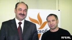 Станіслав Аржевітін та Владислав Лук'янов у студії Радіо Свобода
