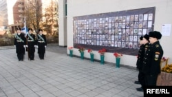A memorial meeting in 2008 of victims of the Dubrovka Theater (Nord-Ost) attack