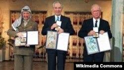 Jaser Arafat, Yitzhak Rabin i Shimon Peres, Nobelova nagrada za mir 1994.
