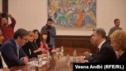 Aleksandar Vučić i Serž Bramerc u Beogradu 23. oktobra 2018.
