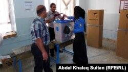 مركز إقتراع بدهوك في يوم التصويت الخاص