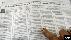 The State of Law bloc led by Prime Minister Nuri al-Maliki is disputing the vote count in Baghdad.