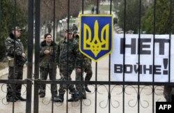 База українських військових в Бельбеку, 4 березня 2014 року
