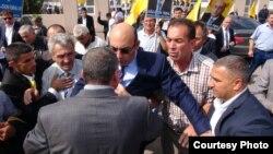 Ümid Partiyasının sədri İqbal Ağazadə Ağstafada (Foto: Aynur İmranova)