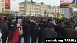 Акция протеста в Барановичах, 26 февраля
