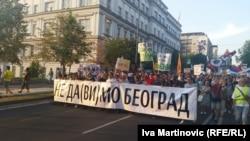 Protesti građana protiv rušenja u beogradskom naselju Savamala, juli 2016.