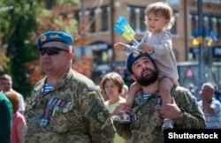 Марш захисників України за участі ветеранів бойових дій на сході. Київ, 24 серпня 2019 року