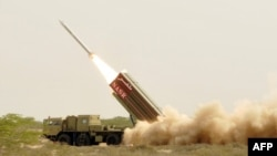 Қысқа қашықтыққа атылатын ядролық зымыран. Пәкістан, 29 мамыр 2012 жыл.