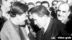 Yehudi Menuhin și George Enescu, București, George Enescu,1945