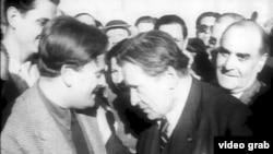 George Enescu și Yehudi Menuhin, București 1945