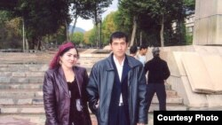 Tajikistan -- Safarali Sangov & his wife Sarvinoz, Dushanbe, undated