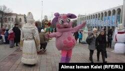 Бишкектеги Ала-Тоо аянты жаңы жыл алдында.